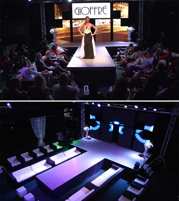 Furniture Rental Tampa Bay, Fashion Show furniture, VIP event, Award Event St Petersburg