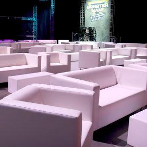 White lounge leather furniture